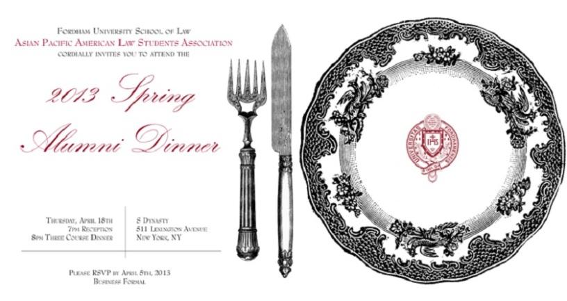 Spring Dinner Invite